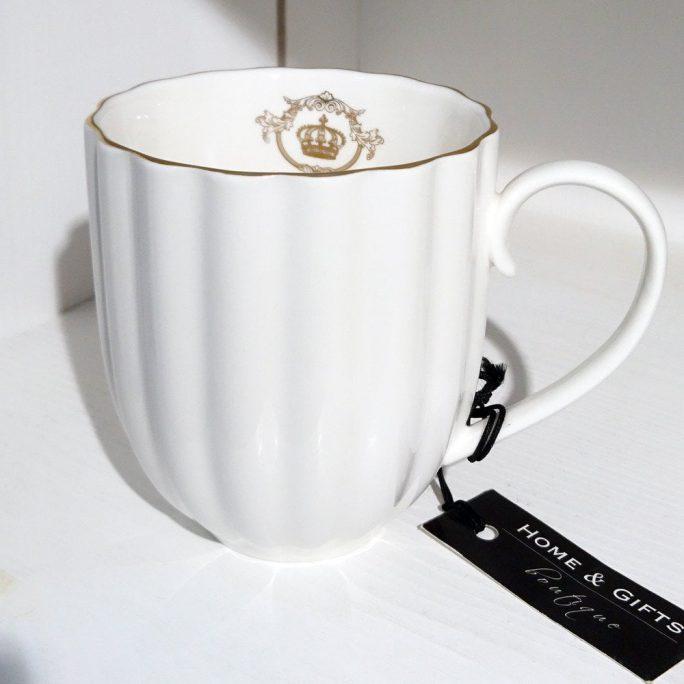 Biały elegancki kubek klasyczny