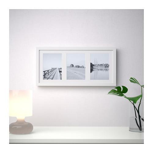 Ramka na 3 zdjęcia - tryptyk - Biała, gruba, 50x23cm